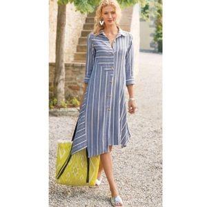Soft Surroundings Asymmetrical Midi Dress Small